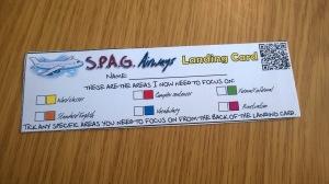 Landing card